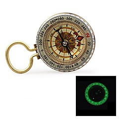 "G50B 1.5 ""Glow-in-the Dark-Stainless Steel Compass w / Damping Oil - Golden"