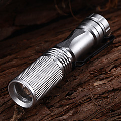 508 Adjustable Focus 3-Mode 1xCree XP-E R2 Waterproof LED Flashlights(1xAA,150LM)Silver