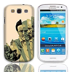 Man with Gun Pattern Hard Case with 3-Pack Screen Protectors for Samsung Galaxy S3 I9300