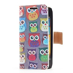 Owls Style Leather Case with Card Slot and Stand for Samsung Galaxy S Advance i9070
