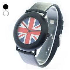 Unisexe cadran rond PU bande de montre bracelet à quartz (couleurs assorties)