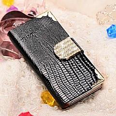 Etui Portefeuille à Boucle pour iPhone 5/5S, Strass et Similicuir (Autres Coloris Disponibles)