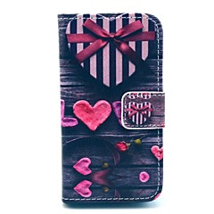 Love Heart Gift PU Leather Full Body Case for iPhone 4/4S