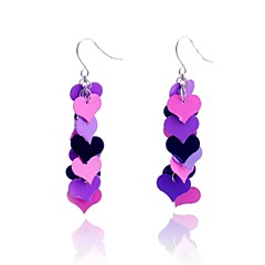 Lureme®Colorful Linking Hearts Earring