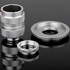 25mm F1.4 CCTV Lens + Macro Anneaux + C-NEX Adaptateur Bague pour Sony NEX-5C NEX-7 etc - Argent
