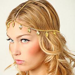 shixin® europæiske blad kvaster gyldne legering pandebånd til kvinder (1 stk)
