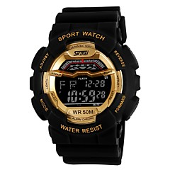 Moda Unissex Sport Style Multi-Function LCD Digital Rubber Band relógio de pulso (cores sortidas)