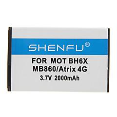 Shenfu 2000mAh batteria del cellulare per Motorola BH6X MB860/Atrix 4G