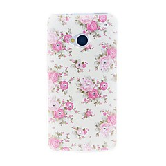 For HTC etui Rhinsten Etui Bagcover Etui Blomst Blødt TPU for HTC