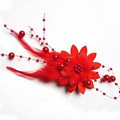 Fashion Bride fjer hovedklæde blomst hårnål