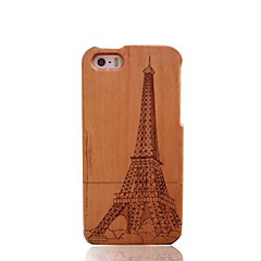Handmade Eiffel Tower Cherry Bamboo Wood Protective Case Cover for iPhone 5/5S