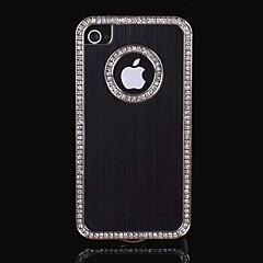Cadre Hexagonal diamant brossé Hard Case en aluminium pour iPhone 4/4S (couleurs assorties)