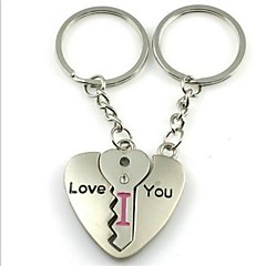 (2 PC) Bella Puzzle Fashion Heart-Shaped Coppia Creative-High Grade in acciaio inossidabile Keychain