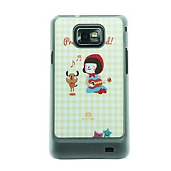 Little Red Riding Hood Meisje die de Piano en The Bear Dance Leren Ader patroon harde Case voor Samsung Galaxy S2 I9100