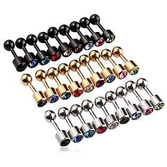 Oorknopjes Luxe Sieraden PERSGepersonaliseerd Kristal Roestvast staal Gesimuleerde diamant Sieraden VoorBruiloft Feest Dagelijks Causaal
