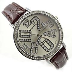 De las mujeres de la aleación dial redondo pu banda de cuarzo reloj de pulsera analógico (colores surtidos)