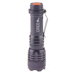 Smiling Shark SS-520 1-Mode 1x Cree XR-E Q5  LED Flashlight (150LM,1x14500,Black)