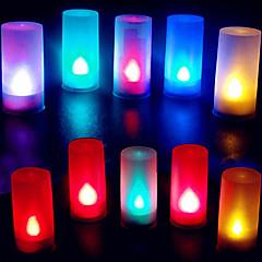 kleurrijke vlam abs kaars vorm led nachtlampje voor festival kerst halloween
