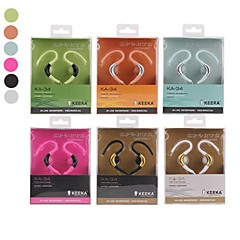 סגנון באיכות גבוהה ka-34 3.5 Hi-Fi ספורט אוזניות באוזן לטלפונים סמסונג (צבעים שונים)
