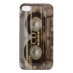 Carcasa de Protección de Policarbonato para iPhone 4 y 4S (Estilo Casete Retro)