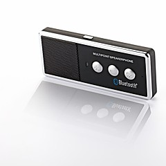 Portable Rechargeable Bluetooth V4.0 Cell Phone Handsfree Speaker Car Kit - Black + Silver