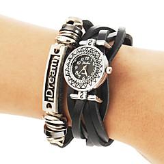 Vintage Style ronde nationale des femmes Dial Pu Band bracelet de quartz analogique (couleurs assorties)