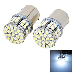 Marsing 1156 9W 800lm 6500K 50-SMD LED 7000K Cool White Light Car Brake Dimljus - (2st)