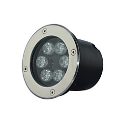 6 LED High Power Warm/Pure/Cool White Underground Light AC85-265V