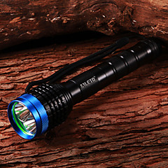 Flashlighyts LED LETO N9 CREE XM-L T6 Mise au point réglable (2 x 18650,4200 LM)