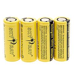 Skyray SR 6000mAh 26650 Baterie s Ochrana před přebíjením (4ks)