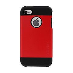 Tough Armor Hit Color Plastic Hard and Soft Combination Case for iPhone 4/4S