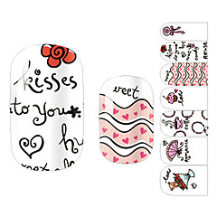 28PCS Dynamic Kiss Ontwerp Nail Art Stickers