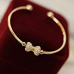 Korean Style Golden Heart Bangle