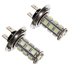 H7 2.5W 18-LED 200LM 5050SMD Blue Light LED pære til bil (12V, 2stk)