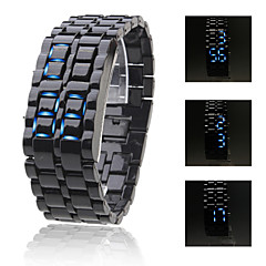 Men's Watch Blue LED Lava Style Digital Plastic Band