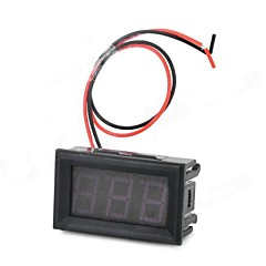 HZDZ 3-Digit Red LED Digital Voltage Meter (DC 4.5V ~ 30.0V)