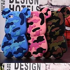 Mignon camouflage Bears Modèle 3D Conçu Soft Case silicone pour iPhone 4/4S (couleurs assorties)