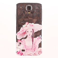 Three-Dimensional Diamond Graphics Rose Girl Pattern PC Hard Case for Samsung Galaxy S4/I9500