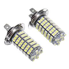 LED H7 120x3528SMD lumière blanche pour lampe de phare Ampoule (12V, 2pcs)