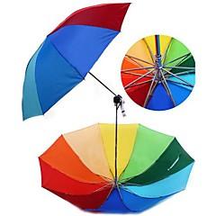 Rainbow Design Non-woven tyger och Iron Folding paraply (Random Color x 1 st)
