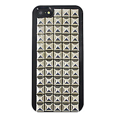 Square Alloy Rivet Covered Back Case for iPhone 5/5S