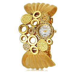 Женские Модные часы Кварцевый сплав Группа Блестящие Черный / Серебристый металл / Коричневый бренд-
