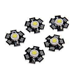 ZDM ™ 1W hög effekt sval vit färg LED-modul med aluminium pcb (3.0-3.4v, 5st)