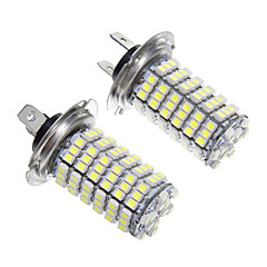 H7 6W 120x3528SMD LED for frontlys pære (2stk)