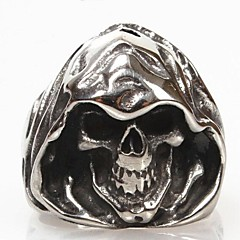 Кольца В форме черепа Повседневные Новогодние подарки Бижутерия Титановая сталь Классические кольца7 8 9 10 11 12 Черный