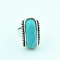 Toonykelly ® Vintage Nainen Tiibetin Erikoisvanteet Turkoosi Säädettävä Ring (Green) (1kpl)