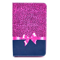Rose Leopard Bow Pattern Full Body Case with Stand for Samsung Galaxy Tab 3 Lite T110