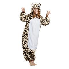 Wild Leopard Bear Polar Fleece Unisex Kigurumi Pajamas Cartoon Sleepwear Animal Halloween Costume