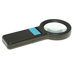 handheld 55mm 5x suurennuslasi 8-led valaistus