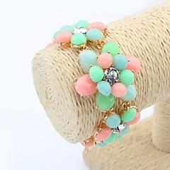 Women's Cute Flowers Fashion Chain Link Bracelets (More Colors)(1pc)